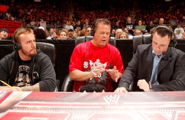 CM Punk, Michael Cole, Jerry Lawler